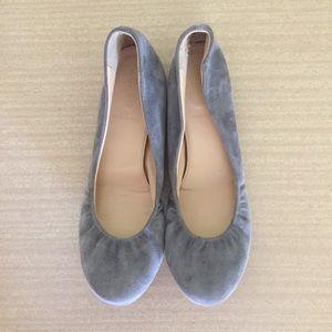J. Crew Gray Suede Ballet Flats Size 8